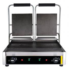 Grill électrique double plaques lisses