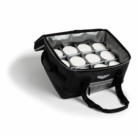 Medium catering bag with removable liner and 2 pan separators