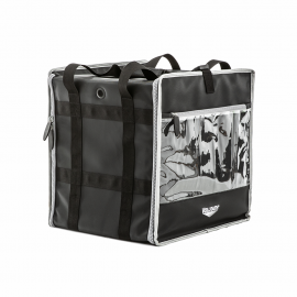 Tower bag with backpack straps and headrest strap