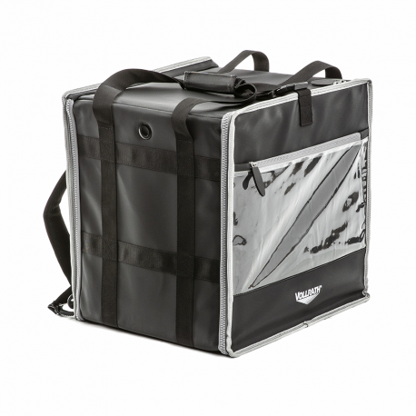 Food delivery backpack bag with integrated frame