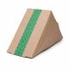 Boîtes sandwichs triangles kraft standards Vegware 65mm (x500)