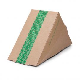 Caja compostable para sándwich papel kraft Vegware (Caja 500)