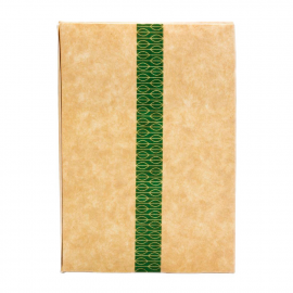 Caja compostable de papel kraft con ventanilla PLA (Pack de 500 uds.)