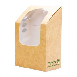 Boîtes à wrap et tortilla kraft compostables avec fenêtre PLA Vegware