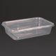 Fiesta Plastic Microwavable Containers With Lid (Pack of 250)