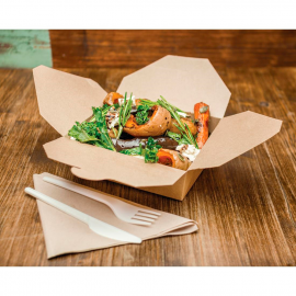 Vegware Compostable Paperboard Food Boxes No.5 1050ml / 37oz (Pack of 150)