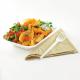 Safata compostable de bagàs per fregits Vegware (Caixa 500)
