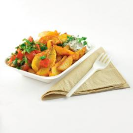 Barquettes à frites compostables en bagasse Vegware 175mm