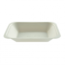Bandeja compostable de bagazo para fritos Vegware (Caja 500)