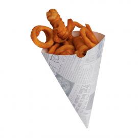 Cucurucho de papel de periódico biodegradable para patatas Colpac (Pack de 1000 uds.)