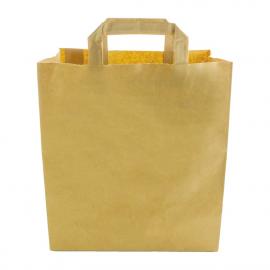 Grands sacs compostables en papier recyclé Vegware largeur 25 cm (x250)