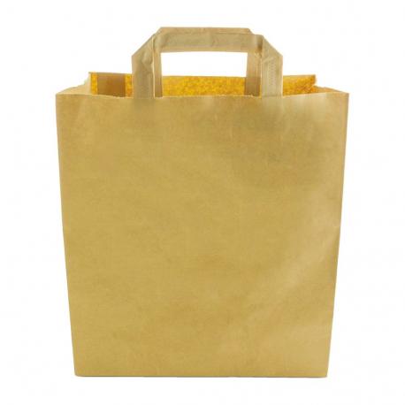Bolsa grande papel reciclado compostable Vegware (Caja 250)