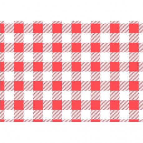 Papier ingraissable vichy rouge (Pack de 200 uds.)