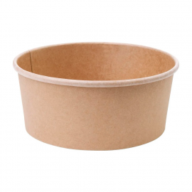 Fiesta Green Compostable Round Kraft Salad Bowls (Pack of 300)
