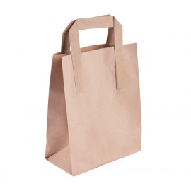 Bolsa de papel reciclado marrón (Pack de 250 uds.)