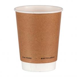 Vaso bebidas calientes compostable de doble pared sin plástico