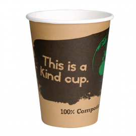 Vaso compostable de una sola pared