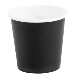 Gobelets jetables à café espresso Fiesta noirs 120ml x1000