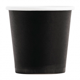 Fiesta Disposable Espresso Cups Single Wall Black 112ml / 4oz