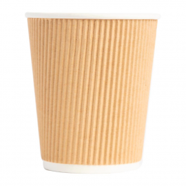 Coffee Cups Ripple Wall Kraft