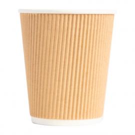 Gobelets boissons chaudes paroi isolante ondulée