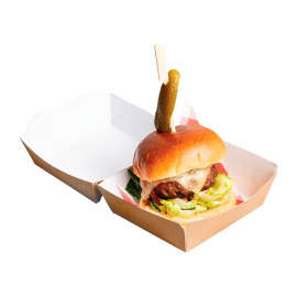 Envases para llevar hamburguesas Colpac papel kraft 108mm (Caja 250)