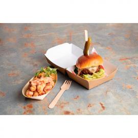 Envàs compostable d'hamburguesa Colpac paper kraft mida estàndard 108mm (Caixa 250)
