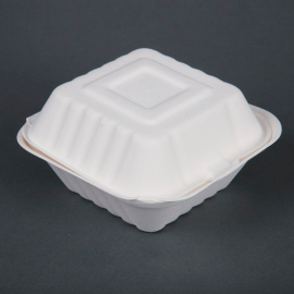 Envàs compostable de bagàs per a hamburguesa