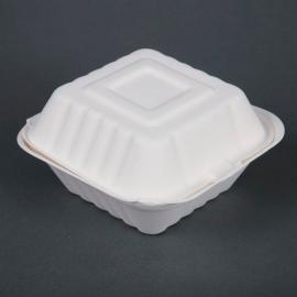 Envases compostables de bagazo para hamburguesas