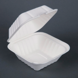 Fiesta Green Compostable Bagasse Burger Boxes