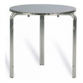 TABLE RONDE EMPILABLE