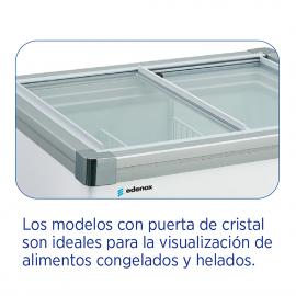 Coffre de congélateur horizontal avec portes vitrées