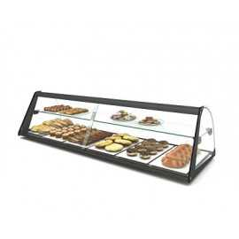 SAYL Standard Curved display case with shelf