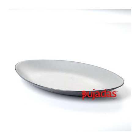"Oval platter ""Gray Soul"""