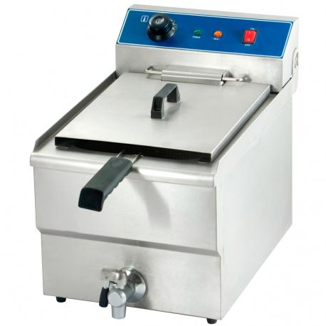 Electric fryer tap