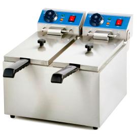 Friteuse électrique professionnelle 8 litres double