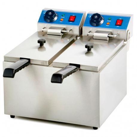 Fregidora elèctrica doble 4 + 4 litres