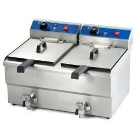 Friteuse électrique professionnelle 20 litres avec robinet