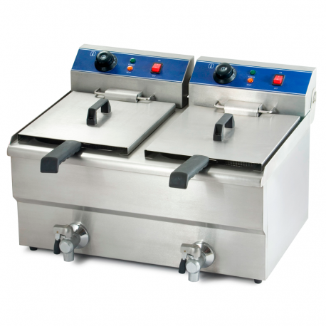 Electric fryer double tap
