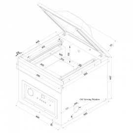 Series 410 Vacuum packing machine model VAKSIC-20 2A