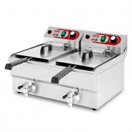 Industrial electric fryer with tap 20 liter