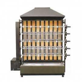Rostidor de pollastres de llenya 6 espases ample