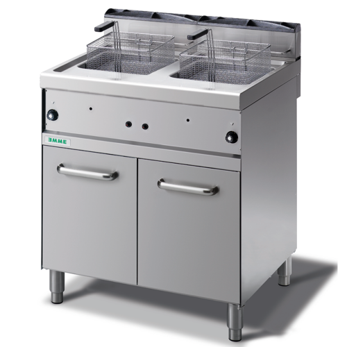 Industrial gas fryer double