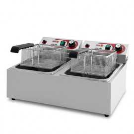 Double industrial electric fryer 14 litres
