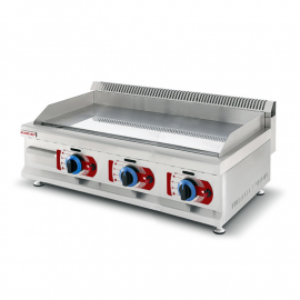 Fry-top professionnel gas 900