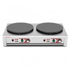 Double electric professional crepe maker