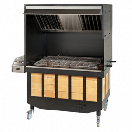 Automatic barbecue with smoke extraction