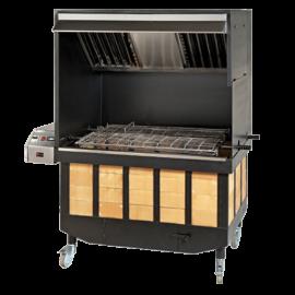 Barbacoa automática con extracción de humo