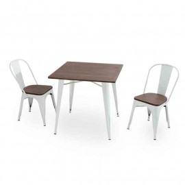 ANTIK OLD SQUARE LOW WHITE TABLES