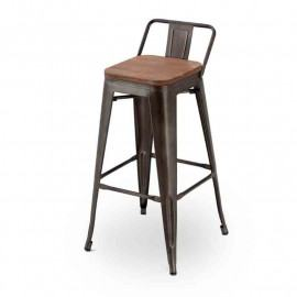 ANTIK OLD STOOL WITH BACK